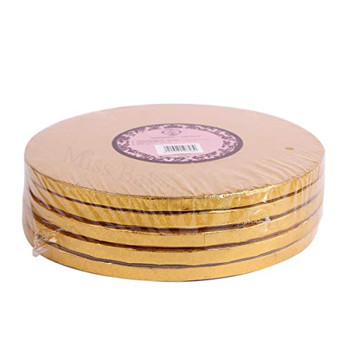 Miss Bakery's House Cake Drum - 12 mm - Ø 30 cm - dorado - 5 piezas