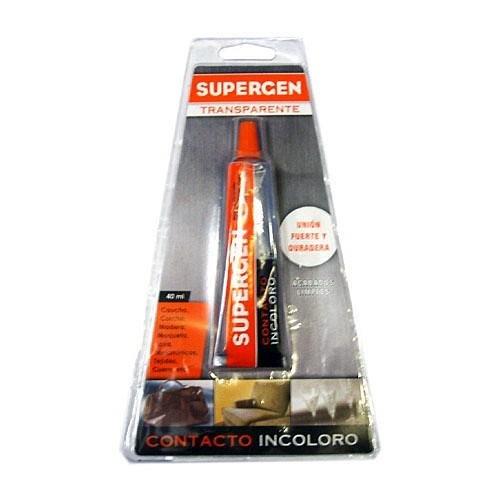 Tesa 62601-00000-04 62601-00000-04-Supergen Transparente Contacto Incoloro-Tubo 40 ml en Caja expositora