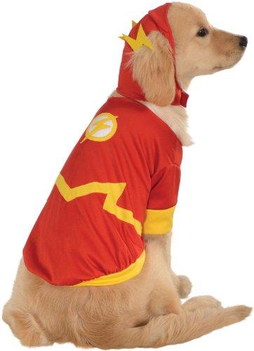 Disfraz Oficial de DC Comic Flash para Mascotas, Regalo de superhéroe, tamaño pequeño