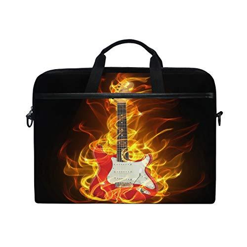 GIGIJY Creative Flames - Funda de lona para guitarra eléctrica, 13 en 13,3 en 14 en 15 pulgadas para niños, niñas, mujeres y hombres