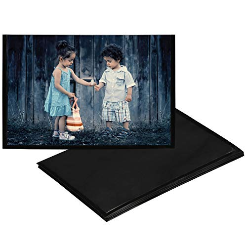 Iconikal 4 x 6 Magnetic Photo Sleeves, Black, 11 Pack