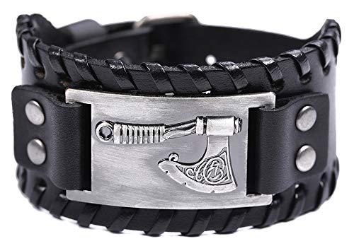 Breite Leder Tailsman Axt Armbänder Slawischen Mixed Color Strap Punk Viking Armband Manschette Leder Armband Amulett Schmuck