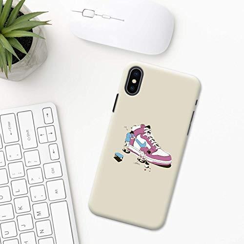 Espadrille Étui iPhone XR 11 X XS MAX Pro 8 7 Plus 6 6s 5 5s SE 2020 10 plastique Coque silicone Apple iPhone Cas de téléphone tendance chaussures style