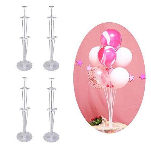 4 set di supporti per palloncini, supporto per palloncini con aste in plastica per albero di palloncini, asta per palloncini riutilizzabile, usata per matrimoni, decorazioni per feste di compleanno。