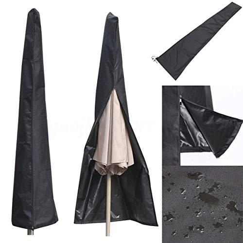 Debeme - Funda protectora para sombrilla (210D, tela Oxford 210D, resistente al agua y al polvo, cierre de cremallera completa para paraguas de mercado compensado de 9 a 11 pies de diámetro)