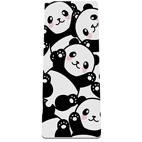 Alfombrilla de yoga antideslizante de 1/3 pulgadas de grosor con correa de transporte para todo tipo de ejercicio, yoga y pilates (72 pulgadas x 32 pulgadas x 8 mm de grosor) Clever Panda