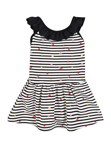 NAME IT Mädchen NMFZIFRUSSE Swimsuit Dress Box Badeanzug, Snow White, 122/128