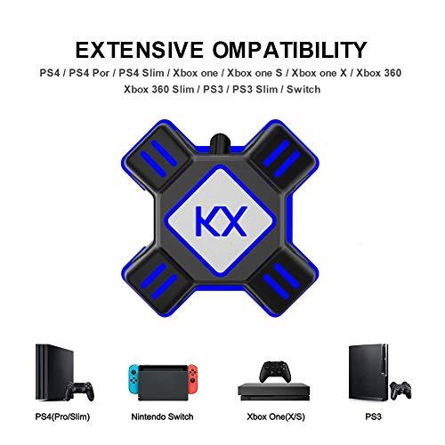 KiGoing Convertisseur de Clavier de Souris, Adaptateur de contrôleur de Jeu Compatible avec PS4 / Xbox One/Nintendo Switch / PS3 / Xbox360 / Xbox360 Slim