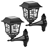 【Auto Solar Wall Lanterns】Upgrade your home with VIEWSUN soloar powered wall lantern lights. Equipped with long-lasting LED lights and an attractive lantern design, these solar pathway lights are a reliable, long-lasting solution for beautiful accent...