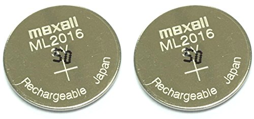 Maxell ML2016 Battery - Original Rechargeable Battery x 2pcs Lithium Manganese Batteries (ML) for Casio Solar Watch & Eco Drive Watch
