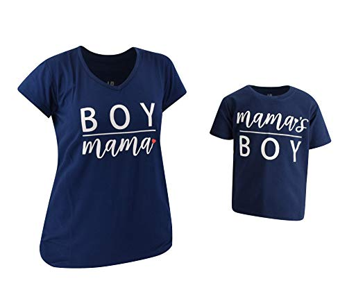 Unique Baby Boys Mamas Boy Mommy and Me Matching Mothers Day Shirts (3t) Blue