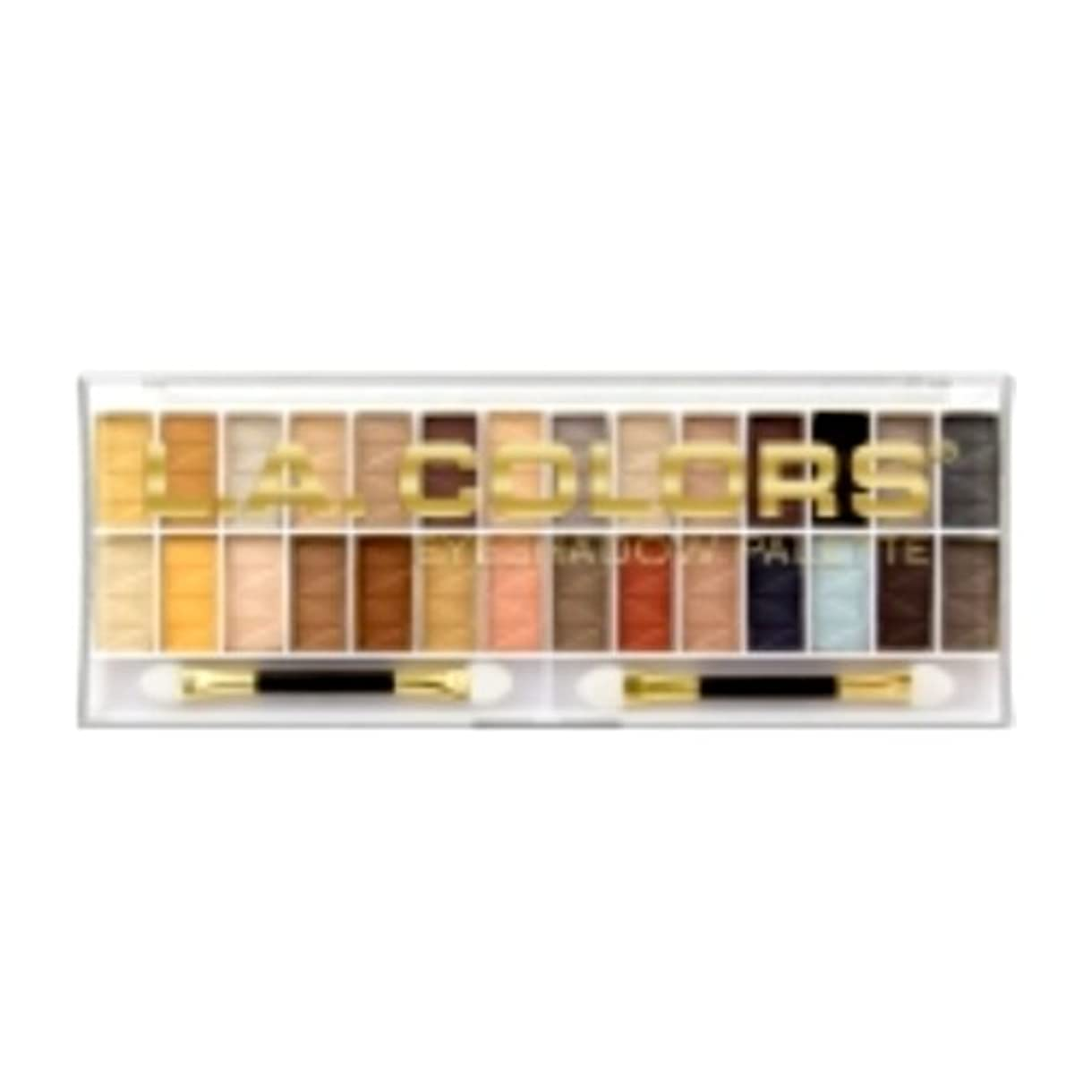 ハブブアッパー化合物(6 Pack) L.A. COLORS 28 Color Eyeshadow Palette - Hollywood (並行輸入品)