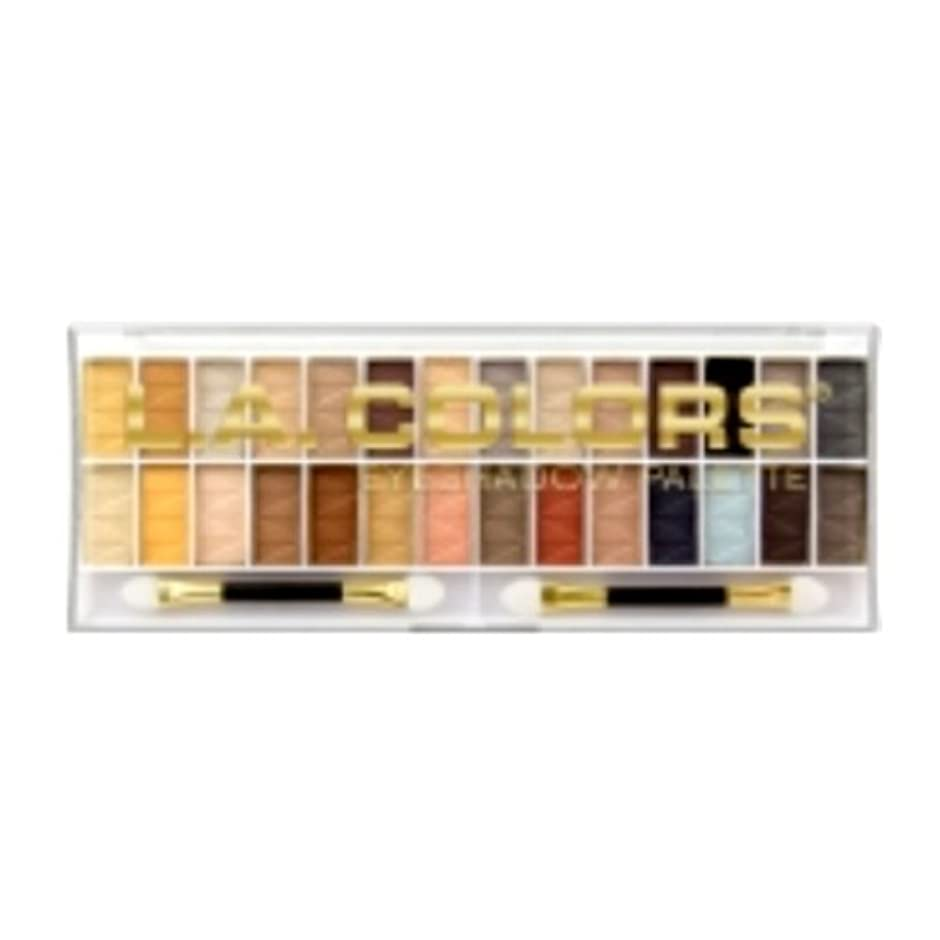 路面電車亡命ダウン(3 Pack) L.A. COLORS 28 Color Eyeshadow Palette - Hollywood (並行輸入品)