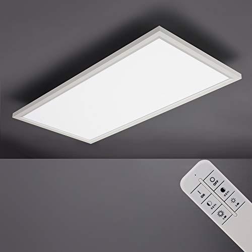 IMPTS Panel LED regulable plano, 30 x 60 cm, lámpara de techo con mando a distancia, control de temperatura de color ajustable, 3000 K-6500 K, 30 W, 2600 lúmenes