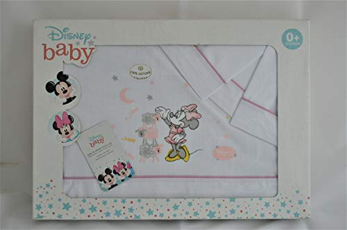 Interbaby MN006-12 Disney - Baby, Sábanas Minicuna, Blanco