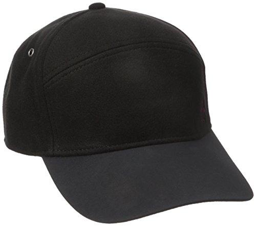 Original Penguin Men's Melton Wool Baseball Cap, Black, One Size