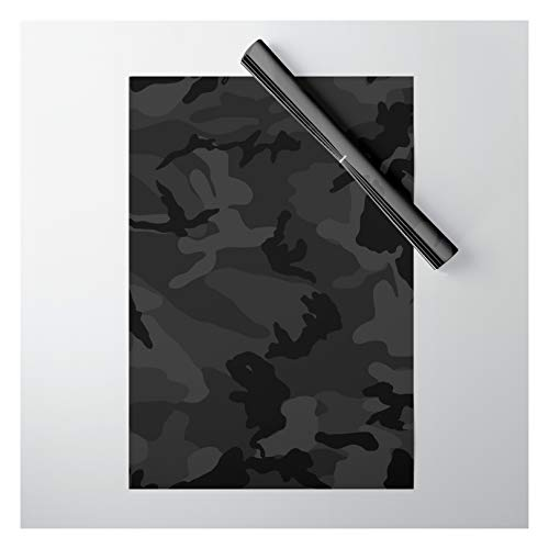 Society6 Camouflage Black by Objectivity on Gift Wrapping Paper - Pack of 5