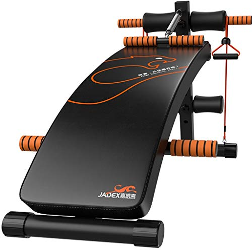 Lowest Prices! DLT AB Bench Decline Slant Board, Black Orange Gym Exercise Reverse Crunch Handle Abd...