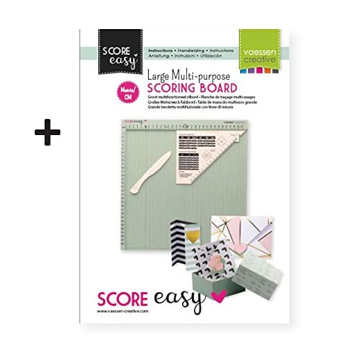 Vaessen Creative Easy Scoring Board CM in Mint Green with Bone Folder and Guide for Card Making and Paper Crafts, 30,5 x… |