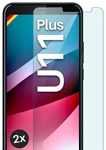 MoEx Pellicola in Vetro temperato HD Compatibile con HTC U11+ | Pellicola Protettiva in Vetro antiproiettile AntiGraffio + Pellicola Protettiva in Vetro 9H 2X Pezzi