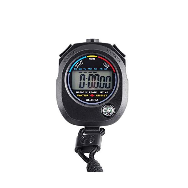 KingL Digital Stopwatch Timer – Interval Timer with Large Display
