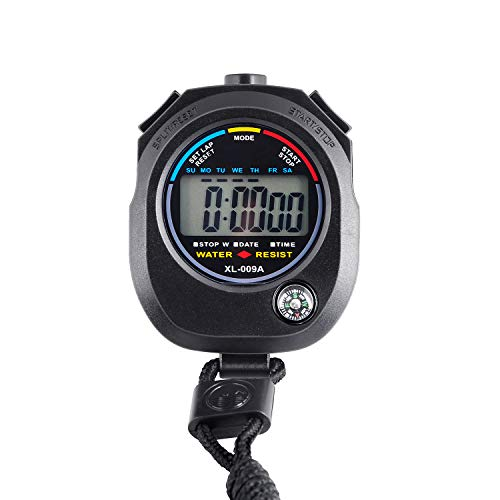KingL Digital Stopwatch Timer - Interval Timer with Large Display (stopwatch1)