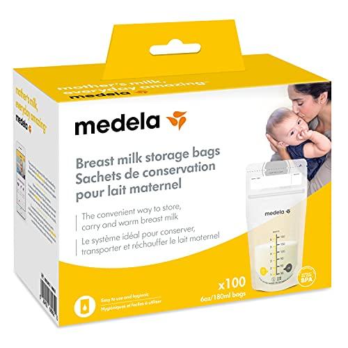 Medela Breast Milk Storage Bags, 100 Count, Ready to Use Breastmilk...