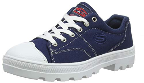 Skechers Women's Roadies True Roots Trainers, Blue (Navy Canvas/White Leather Trim Nvy), 3 UK (36 EU)