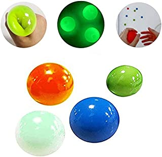 4 PCS Sticky Wall Balls,Ceiling Balls Sticky Balls for Kids Adult,Stick to The Wall and Slowly Fall Off Luminescent Stress...