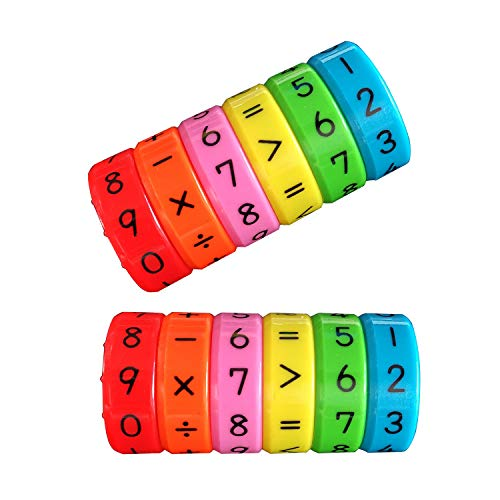 meridy Juguete de Aprendizaje Aritmético Magnético,Regalo Educativo de los Juguetes de Las Matemáticas para los Niños del Bebé,Mayor Que, Menor Que,Igual a 2pcs
