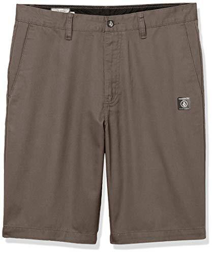 Volcom Men's Vmonty Chino Shorts, Mushroom, 32