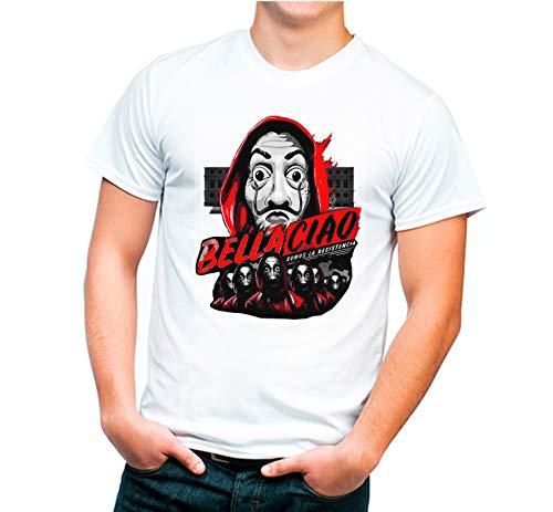 Preisvergleich Produktbild Tu la pintas T-Shirt,  Motiv: Schöne Chiao des Hauses aus Papier,  Erwachsenengröße,  100% Baumwolle,  weiß