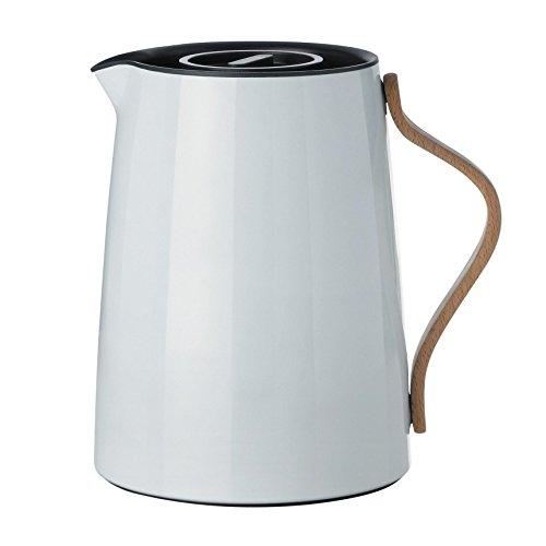 Stelton Emma Isolierkanne aus Kunststoff für Tee, weiß/hellblau, 1l, danish design