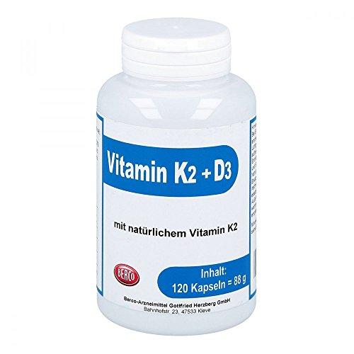 Vitamin K2 + D3 Berco, 120 St. Kapseln