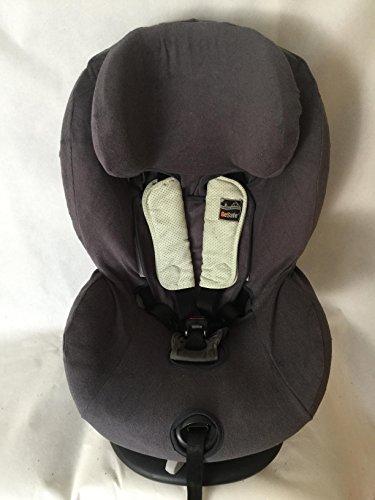 Sommerbezug Schonbezug Frottee für HTS Besafe iZi Comfort X3 Combi X4 Kid X2 Plus Frottee 100% Baumwolle dunkelgrau