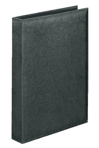 Veloflex 5140780 Ringbuch DIN A4 Exquisit, 4-Ring 15mm, hochwertige Weichfolie, Leder-Optik, Ordner, schwarz