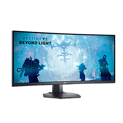Dell Curved Gaming Monitor 34 Inch Curved Monitor with 144Hz Refresh Rate, WQHD (3440 x 1440) Display, Black - S3422DWG