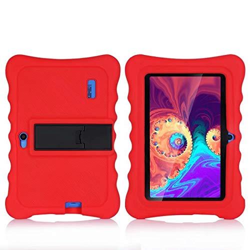 AKNICI Haehne 7'' Funda Protectora - 7 Pulgadas Tablet Funda de Silicona para Haehne 7/JEJA 7/Dragon Touch Y88Y Pro 7/LAMZIEN 7/Yuntab 7 Pulgadas Q88/JINYJIA 7/HMAI 7/Pritom 7 - Rojo