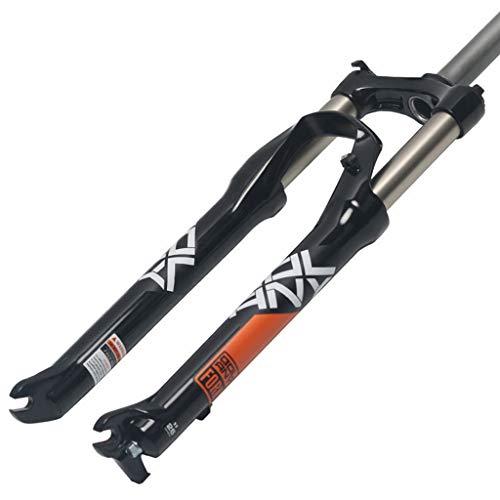 "Tenedor suspensión MTB,Amortiguador aleación de aluminio Amortiguador de resorte Mecánico Frente de horquilla 1-1/8""Accesorios de bicicleta,Black Red-27.5inch"