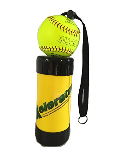 Xelerator 2nd Gen Softball Pitching Trainer w/Leather Ball (Yellow, 12