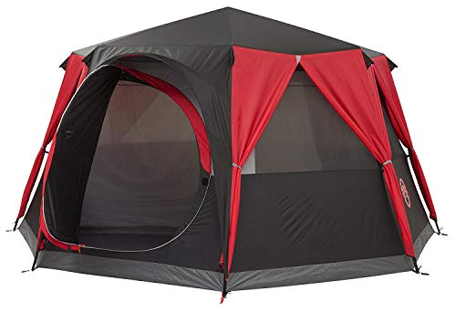 Coleman Tent Octagon, 6 to 8 Man Festival Dome Tent, Waterproof Family Camping Tent with Sewn-in Groundsheet