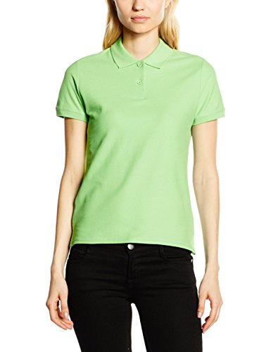 Fruit of the Loom,Premium Polo Donna, Verde (Lime), XX-Large