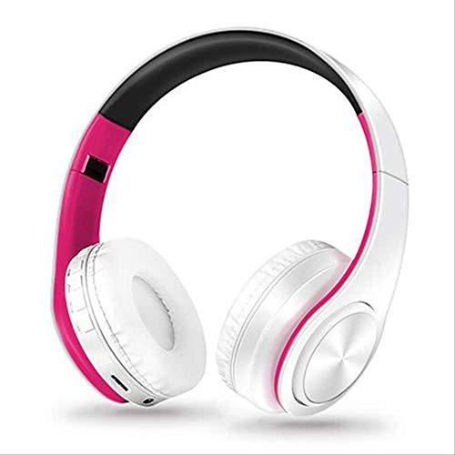 kjzn Hoofdtelefoon Draagbare Draadloze Hoofdtelefoon Bluetooth Stereo Opvouwbare Headset Audio Verstelbare Koptelefoon Met Mic Voor Muziek B 12white pink