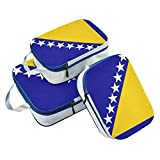 Bosnien & Herzegowina Flagge, Packwürfel, 3 Set Reisegepäck Verpackung Organizer