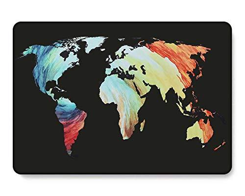 GangdaoCase Carcasa rígida de plástico ultra delgada para MacBook Pro de 15 pulgadas con Touch Bar/Touch ID A1707/A1990 (mapa del mundo 2_2)