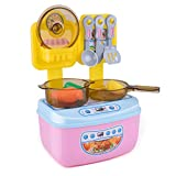 KingbeefLIU Kinder Mini Simulation Küchenutensilien Kochgeschirr Rollenspiel Pädagogisches...