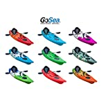 GoSea Glide Single Sit on Top Fishing Kayaks Ultimate Bundle with Paddle and Ultimate Padded Seat   Premium 1+1 Kayak for Adult with Child Seat Ideal for Sea Surf