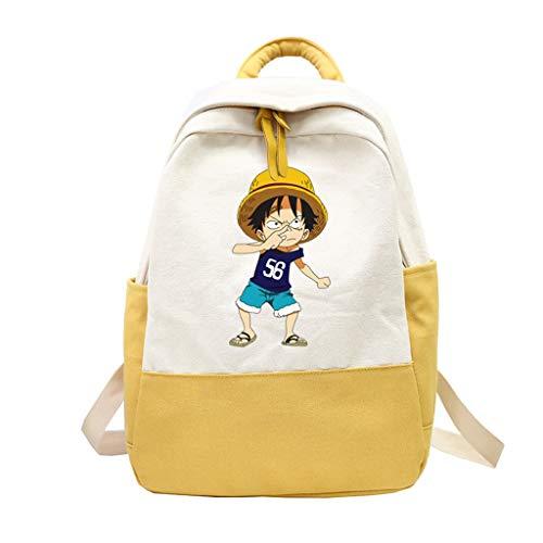 ZXJWZW Cartoon Anime Rucksack One Piece Patchwork Rucksack Junge Mode Schultern Taschen Buch Schultasche Freund Geschenk