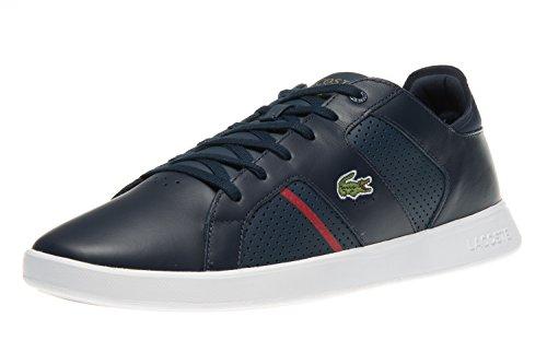 Lacoste Herren Novas Ct 118 1 SPM Sneaker, Blau (NVY/red), 40.5 EU
