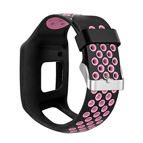 FangWWW Stoßfester Weicher Silikonarmband-Armband-Ersatz Kompatibel Mit Tom-Tom 1 Multi-Sport GPS HRM CSS AM Cardio Runner Uhrzubehör